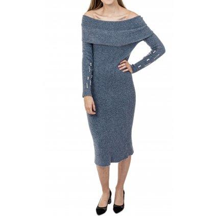 Šedé pletené šaty - MET JEANS