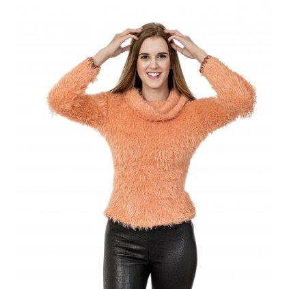Oranžový svetr - MET JEANS
