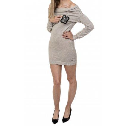 Béžové vlněné šaty - MET JEANS