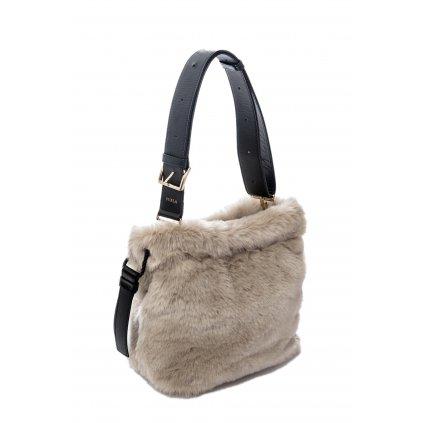 Béžová kožešinová kabelka - FURLA