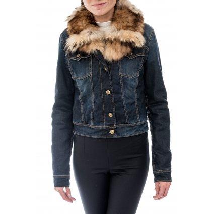 Džínová bunda s liščí kožešinou - CYCLE JEANS