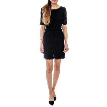 Černé krajkové šaty - REPLAY