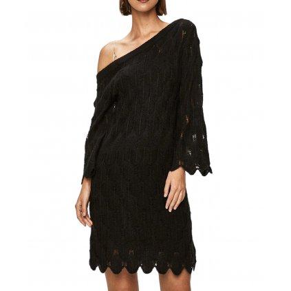 Černé pletené šaty - PATRIZIA PEPE