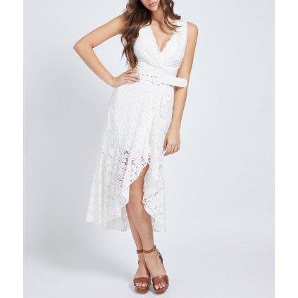 Bílé krajkové šaty - GUESS