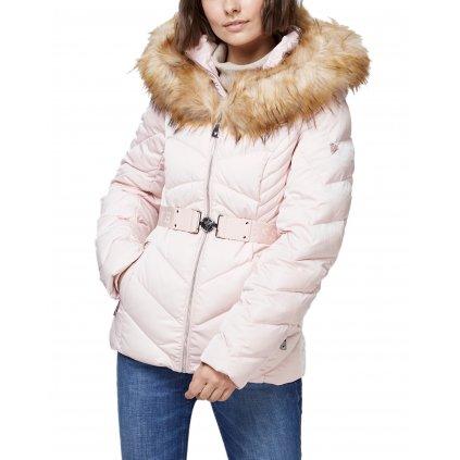 Růžová péřová bunda - GUESS