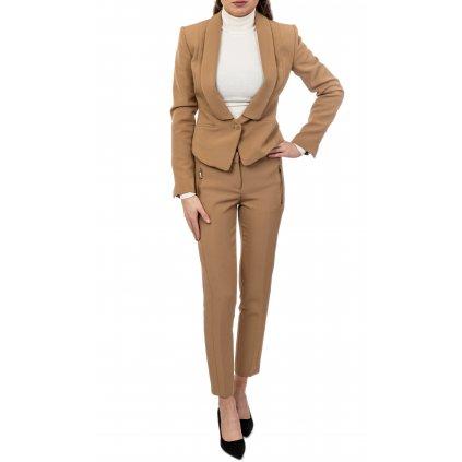 Béžový kalhotový kostým - TRUSSARDI JEANS