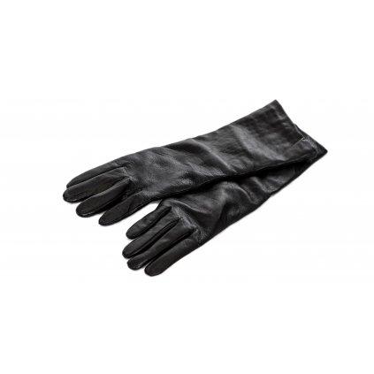Černé kožené rukavice - MAX MARA