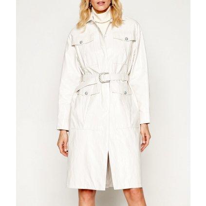 Bílý kožený kabát - PINKO