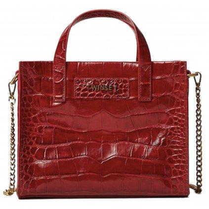 Červená kožená kabelka - TWINSET