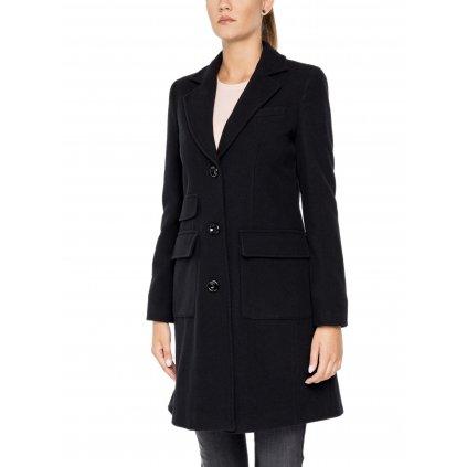 Černý vlněný kabát - EMPORIO ARMANI