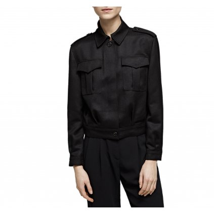 Černá vlněná bunda - KARL LAGERFELD