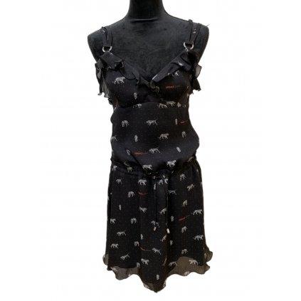 Černé letní šaty - VERSACE JEANS