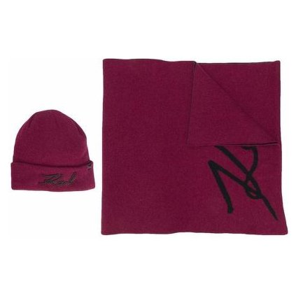 Šála - KARL LAGERFELD | k/signature beanie/scarf set
