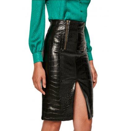 Černá sukně s krokodýlím vzorem - TWINSET