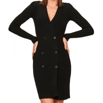 Černé pletené elastické šaty - PINKO