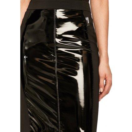Černá lesklá sukně - LOVE MOSCHINO