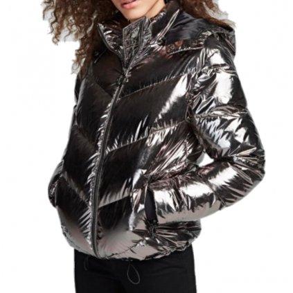 Stříbrná zimní bunda - KARL LAGERFELD