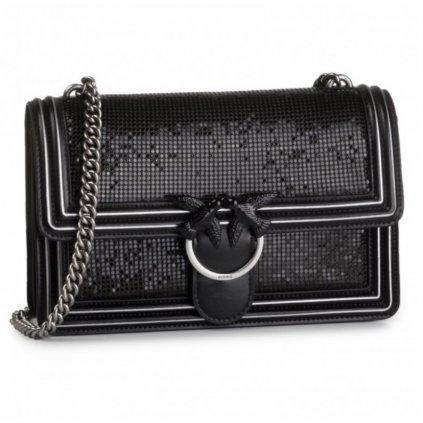 Černá kožená kabelka - PINKO