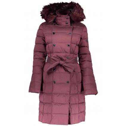Vínový prošívaný kabát - MARCIANO GUESS