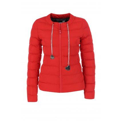 Červená zimní bunda - LOVE MOSCHINO