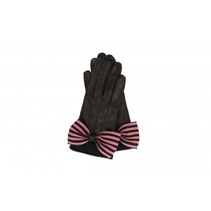Černé kožené rukavice - EMPORIO ARMANI