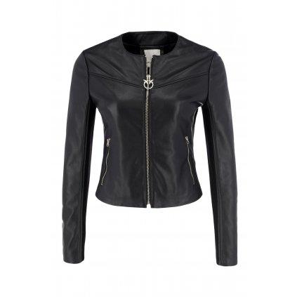Černá kožená bunda - PINKO