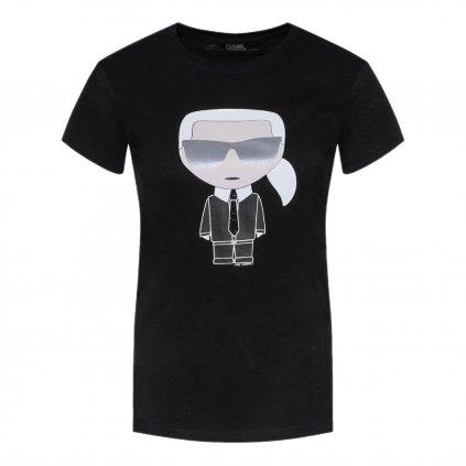 karl lagerfeld t shirt ikonik karl 201w1713 cerna regular fit 5 cut