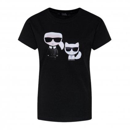 karl lagerfeld t shirt ikonik karl choupette 201w1705 cerna regular fit 4 cut