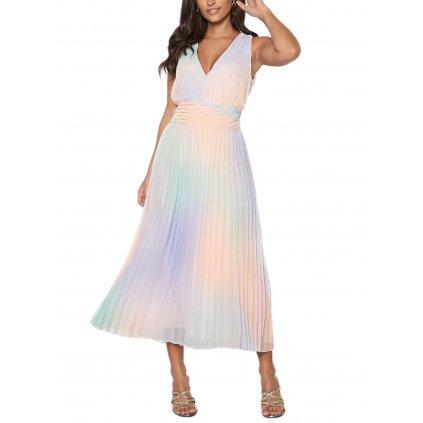 guess hind dress p57c rainbow combo cut