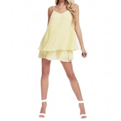 guess dámské žluté šaty (1) cut