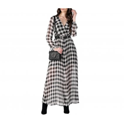 guess dámské kostované dlouhé šaty (1) cut