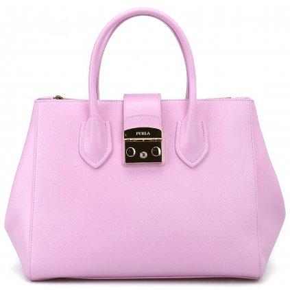 furla totes bags metropolis pink leather medium tote 00000120642f00s001