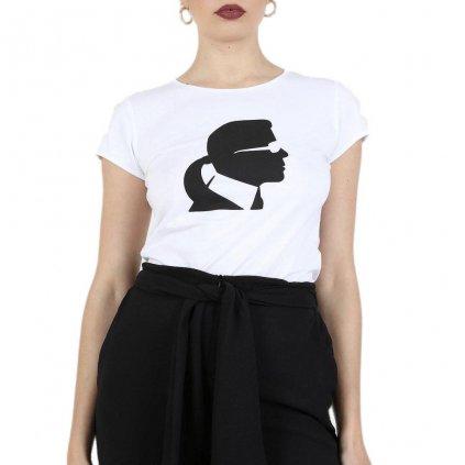 Bílé tričko - KRAL LAGERFELD