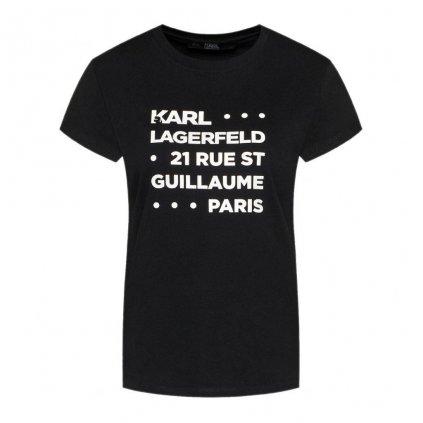 Černé tričko - KARL LAGERFELD
