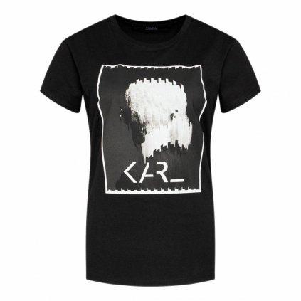 Černé tričko - KARL LAGERFELD | Legend Print
