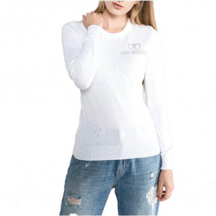 Bílý svetr - LOVE MOSCHINO