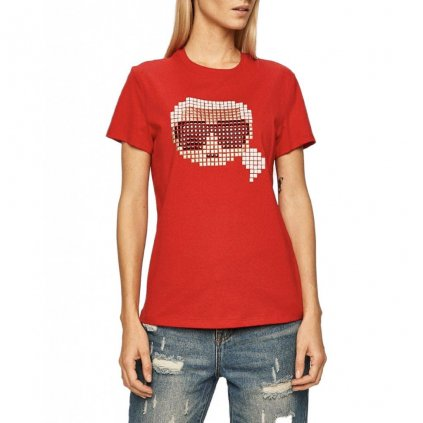 Červené tričko - KARL LAGERFELD | Pixel