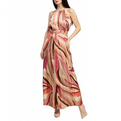Béžové hedvábné šaty - MARCIANO GUESS