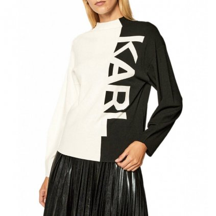 Černo-bílý svetr - KARL LAGERFELD