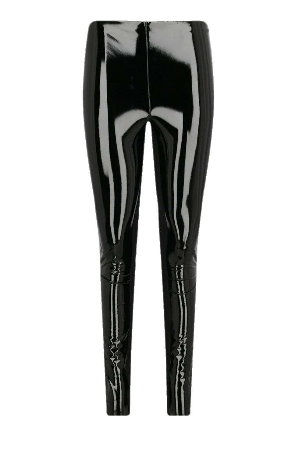 Černé lesklé kalhoty KARL LAGERFELD