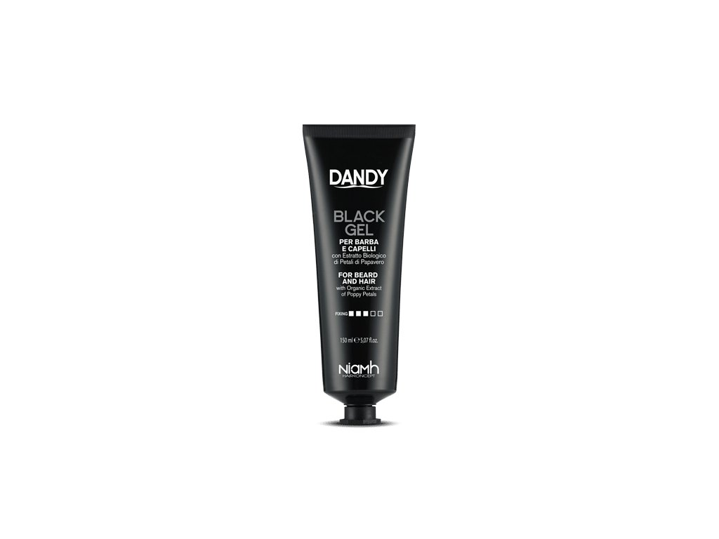 dandy black gel for beard and hair 150 ml cerny gel pro sedive vlasy a vousy 408554 199