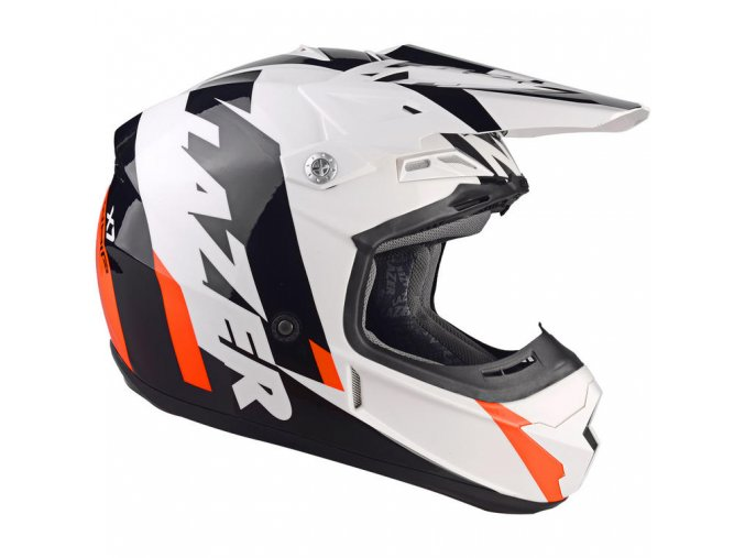 Lazer X7 Whip Motocross Helmet Orange (1)
