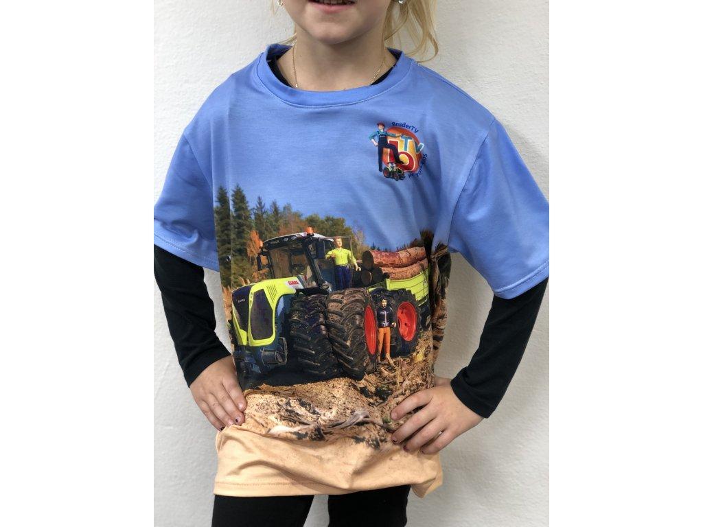 Funkční TRIČKO Celopotisk traktor RC Toys 4 Kids - Claasek