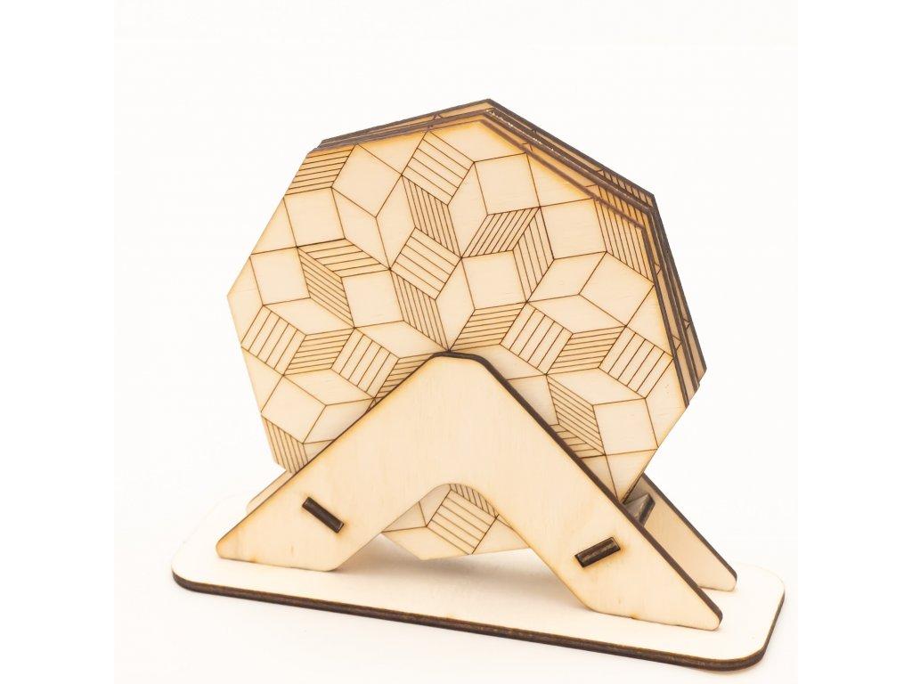 Dřevěné podtácky Octagon