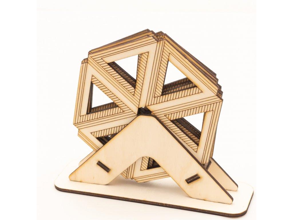 Dřevěné podtácky Hexagon