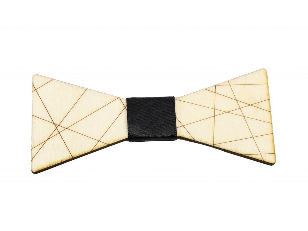 Dřevěný motýlek - Lines