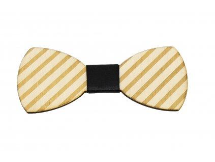 Dřevěný motýlek - Stripe