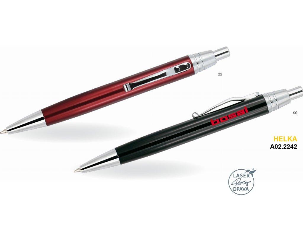 Hliníkové kuličkové pero Helka