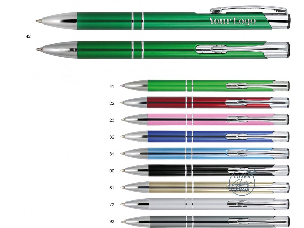 Hliníkové kuličkové pero Akarea