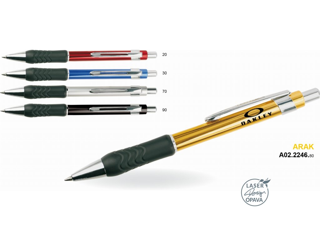 Hliníkové kuličkové pero Arak